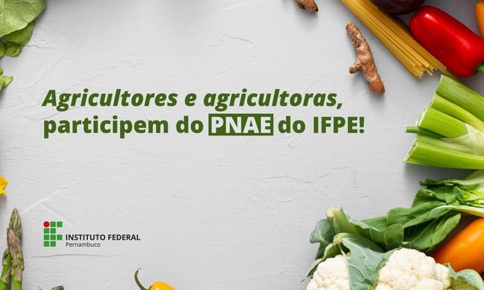 Campus Barreiros lança chamada para aquisição de gêneros alimentícios pelo PNAE