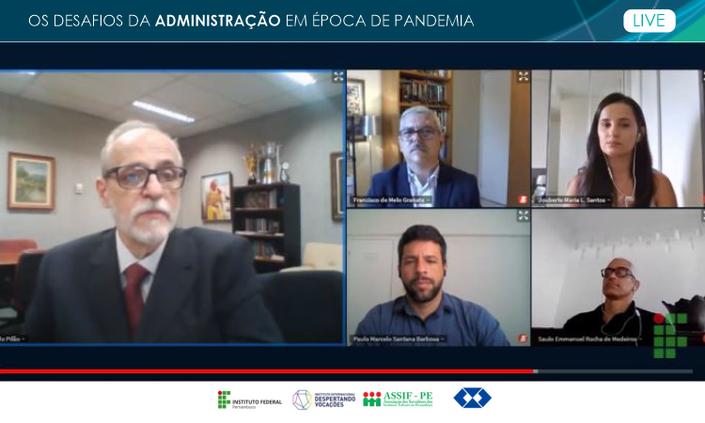 Desafios da pandemia para a Administração foi tema de debate