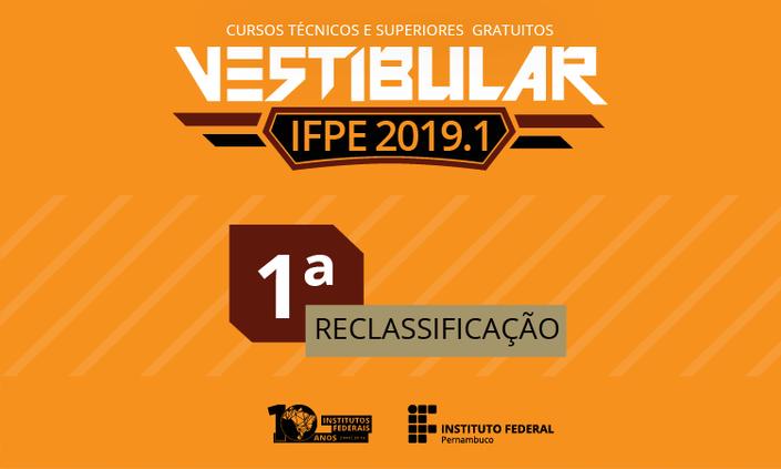 Sai primeira reclassificação do Vestibular 2019.1 para o Campus Cabo