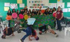 Grupo NZB Crew durante apresentação cultural