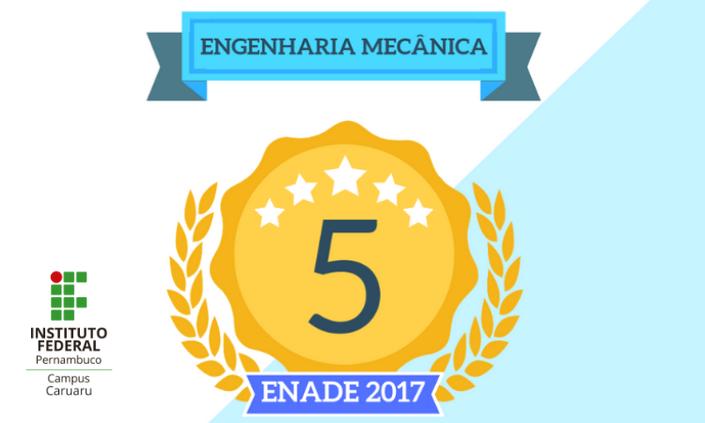 Engenharia Mecânica do IFPE Caruaru conquista conceito máximo no Enade