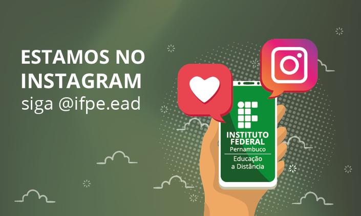 Educação a Distância do IFPE presente nas redes sociais
