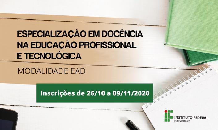 Lançado curso de especialização em Docência na Educação Profissional