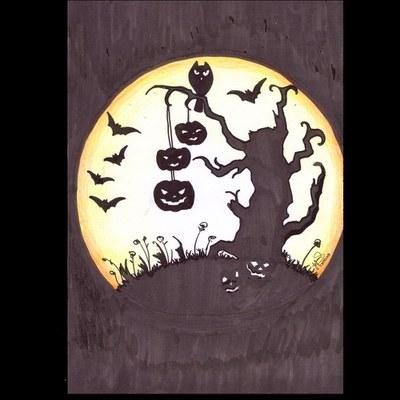 Desenho de Jefferson Luis de Lima, do Programa de Incentivo a Arte e Cultura