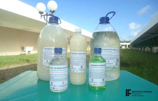 IFPE Ipojuca produz kits de higienização para combate à COVID-19