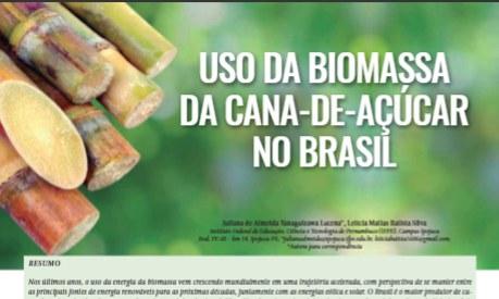 Pesquisa sobre biomassa de cana é publicada em revista nacional