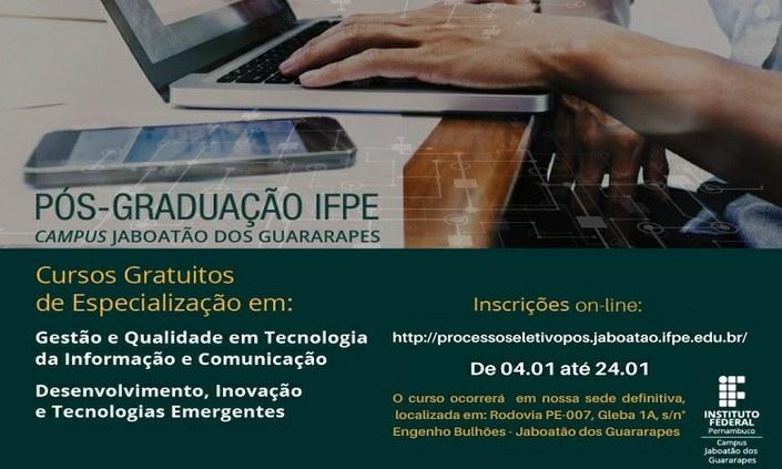 Seguem inscrições para seleção de cursos de especialização gratuitos
