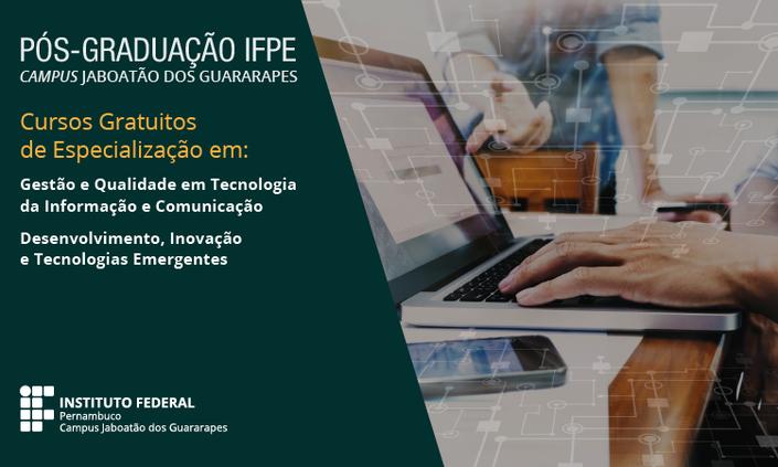 Publicado resultado final de seleção para pós do Campus Jaboatão