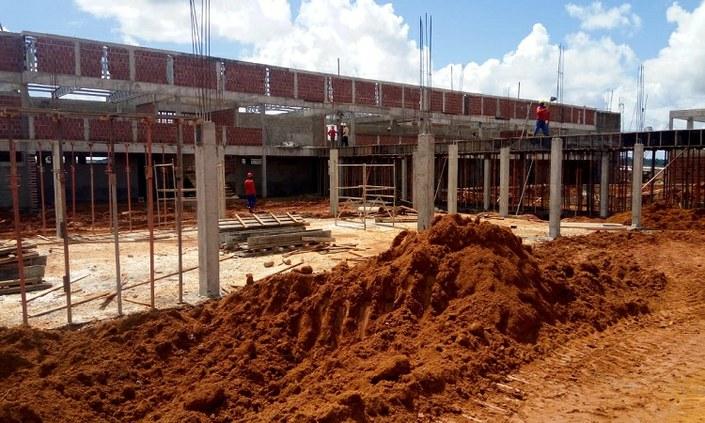 Obras da nova sede do Campus Palmares estão a todo vapor