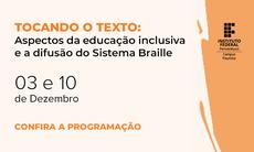 """Evento """"Tocando o texto"""" acontece nos dias 03 e 10/12/2020"""