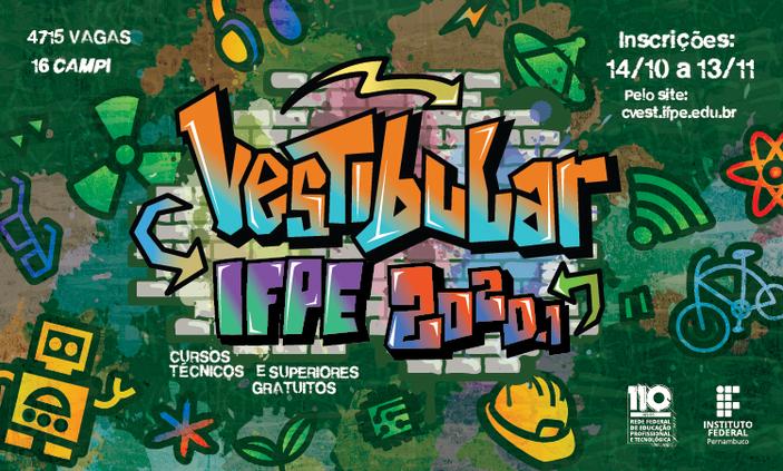 IFPE lança edital do Vestibular 2020.1 com mais de 100 vagas para Pesqueira