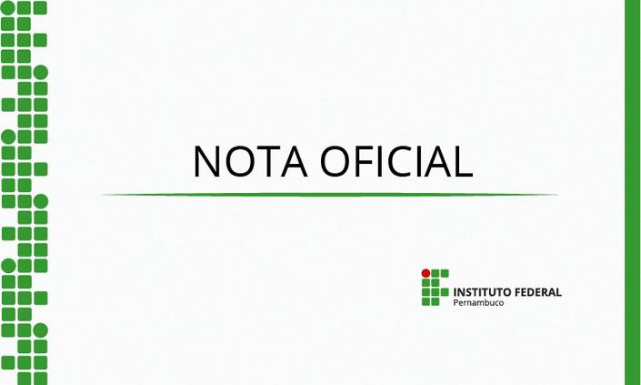NOTA OFICIAL - Atividades Acadêmicas