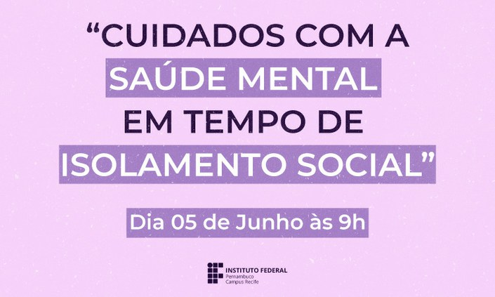 DGP promove encontro sobre saúde mental na quarentena