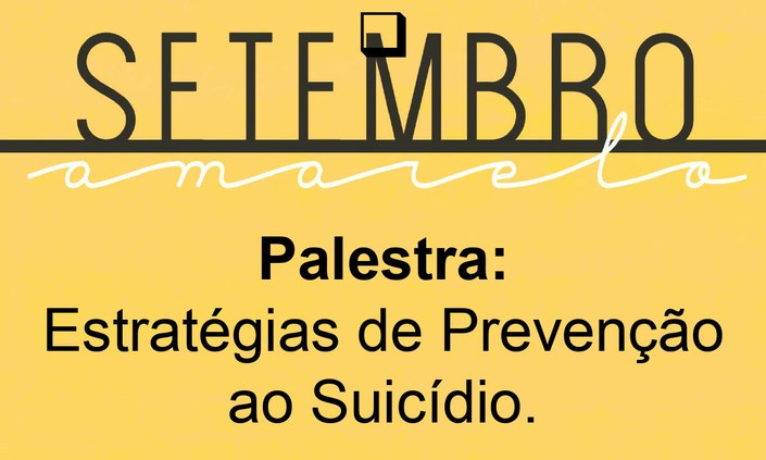 Palestra sobre prevenção ao suicídio será no próximo dia 27