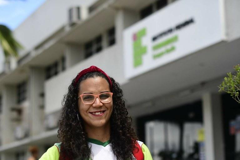 Luana Maria, estudante do Curso Técnico em Saneamento Ambiental do Campus Recife