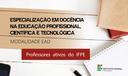 Seleção Estudantes Especialização Educação Profissional