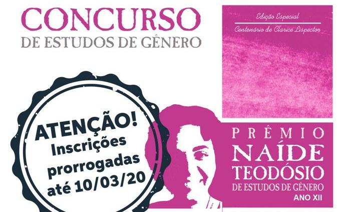 Prêmio Naíde Teodósio tem inscrições prorrogadas até 10 de março