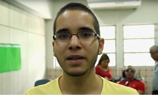 O estudante Michael Júnior representa IFPE no evento